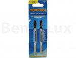 ПРАКТИКА 034-502 Пилки для лобзика по алюминию тип T127D 100 х 75 мм, быстрый рез, HSS